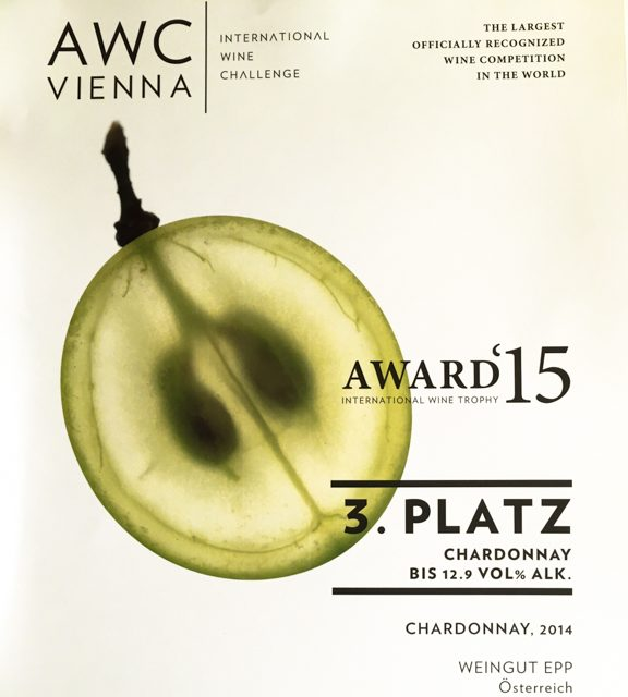 AWC Award mit unserem Chardonnay